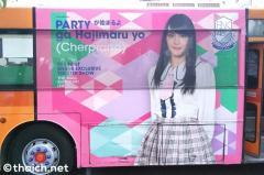 バンコクを走るBNK48劇場PRのラッピングバス
