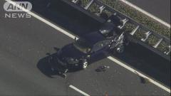 大迷惑 黒いフェラーリ自損事故 車線ふさぎ東北道一時渋滞