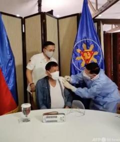 ドゥテルテ大統領、中国のワクチン寄贈拒む 利用未承認も自らは接種のイメージ画像