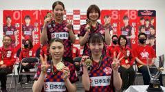 Tリーグ3連覇の日本生命、ホーム貝塚市にV報告 早田ひな「全力で頑張っていきたい」のイメージ画像
