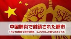 武漢から退避へ アメリカ政府が航空便チャーター用意と報道