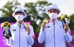 アーチェリー男子団体の表彰台を、アジアの3カ国が独占! 素晴らしい韓国金メダル選手のイメージ画像