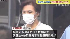 客にバカラ賭博か 違法カジノ経営の男逮捕 横浜