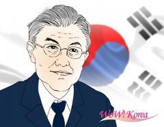 文大統領40%台の支持率と与野党候補者への影響=韓国のイメージ画像