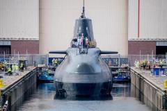 イギリス最新原潜アンソン BAEシステムズの造船所で進水のイメージ画像
