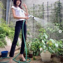 工藤静香、ハイヒールでの庭の水やりに批判殺到「あり得ない」