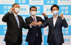 河野氏「国民の広い支持を得たい」 小泉、石破氏との「小石河連合」で訴えのイメージ画像