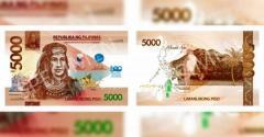 [英雄]5000ペソ記念紙幣 ラプラプ市が観光客に贈呈のイメージ画像