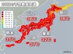 全国的に危険な暑さ 北海道は午前からすでに35℃超え 初の熱中症警戒アラート発表のイメージ画像