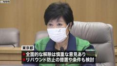 東京都 時短営業要請の緩和か解除を検討のイメージ画像