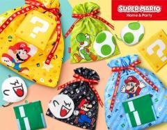 クリスマスプレゼントにも最適!開封後も使える「スーパーマリオ」のラッピングバッグ&ハテナブロックから飛び出すメッセージカードのイメージ画像