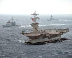 アメリカ海軍セオドア・ルーズベルト空母打撃群が南シナ海入りのイメージ画像