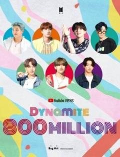 BTS(防弾少年団)、大ヒット曲「Dynamite」のMV再生回数が8億回を突破!変わらない熱い人気のイメージ画像