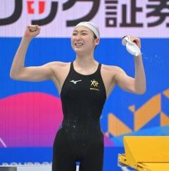 池江、東京五輪代表内定 100メートルバタフライでVのイメージ画像