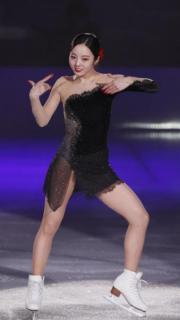 本田真凜 黒の衣装で表情豊かに「Assassin's Tango」披露のイメージ画像