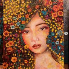 工藤静香、完成途中の絵画を披露もネット賛否「マンガ絵にしか見えない」のイメージ画像